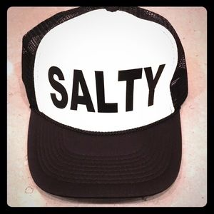 Salty trucker hat